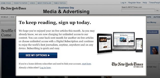 Paywall @ The New York Times